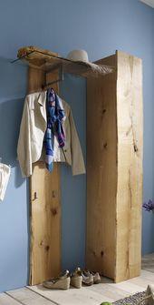 Massivholz Garderobe Eiche massiv geölt Naturas -…