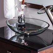 Scempio Glass Oval Vessel Bathroom Sink