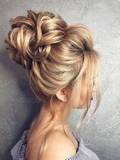 Luxushochzeitsfrisuren mittellanges Haar halb hoch