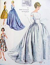 A John Cavanagh couture sky-blue taffeta ball gown, 1950s ...