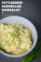 Schneller fettarmer Eiersalat