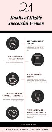21 Habits Of Highly Successful Women