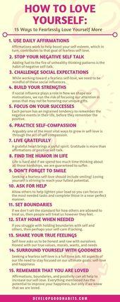 So lieben Sie sich: 15 Möglichkeiten, sich furchtlos mehr zu lieben