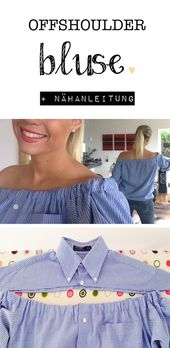 Sew upcycled clothing simply diy off-shoulder blouse do it with nhanlei… #… – UPCYCLING IDEAS