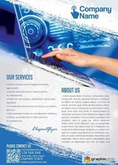 computer technology flyer psd template facebook cover free