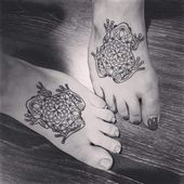 bunte Fußtattoos #Foottattoos