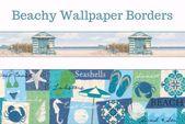 York Removable Beach Wallpaper Borders