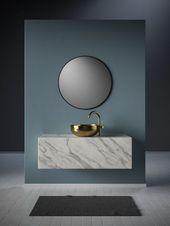 Waschtisch aus Marmor #badezimmerideen