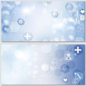Medical Science Banners stock illustration. Illustration of pulse – 159839172