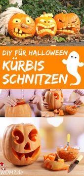 Halloween-Kürbis schnitzen: Anleitung und Vorlagen – WOMZ
