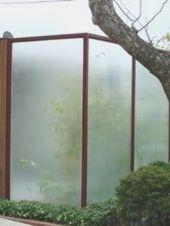Moderne Gartenzaune Aus Plexiglas Und Holz Deco Exterieure Jardins Garde Corps Exterieur