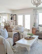 20+ Fabulous Shabby Chic Farmhouse Living Room Decor Ideas