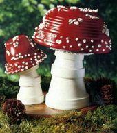 Fairytale mushrooms for the garden / creative garden ideas / inspiration / di