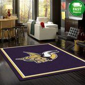 Minnesota Vikings Rug Team Spirit Nfl Team Rug Carpet Living Room Decor Area Rug   – Products