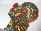 Vintage Cardboard Thanksgiving Turkey School Room Decorations – Vintage Wall Thanksgiving Decoration