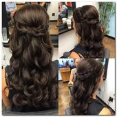 15 Cutest Half to Half Down Hairstyle for Special Occasion | Schonheit.info
