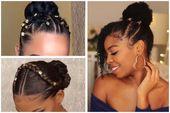 Nicht Ihr gewöhnliches Brötchen – schöne Brötchen-Frisuren für schwarze Frauen – #beautiful #black #hairstyles #ordinary #women –