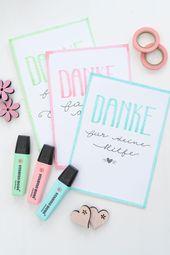 DIY Handlettering Dankeskarten! Ich zeige euch, wie ihr einfache Handlettering K… – Handlettering – Inspiration