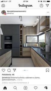 Helles Holz plus schwarz Zeitgenössische Kochstube schwarzes Holz Licht – leben + wohnen