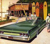 Plan59 :: Classic Car Art :: 1961 Pontiac Bonneville Sports Coupe –