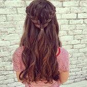 39 Neue Frisur Halboffen   – Frisuren Damen – #Damen #Frisur #frisuren #halboffe…,  #Damen …