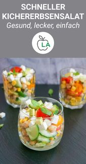 Kichererbsensalat mit Feta und Avocado – Vegetarisch & einfach   – Vegane und vegetarische Rezepte