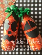No Mess Halloween Preschool Craft – Pumpkin Recycled Bottles