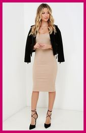 Edgy winter outfits. Plus Size winter outfits. Blackgirl winter outfits ~ wicked games dark beige, figure skirts midi dress at lulus com ~ wicked ga …