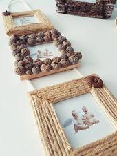 Cadres avec des matériaux naturels bricoler en automne   – DIY Deko & Accessoires