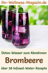 Brombeerwasser – Rezept für aufgegossenes Wasser – Detoxwasser