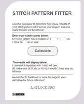 Pin der Woche: Awesome Stitch Pattern Calculator