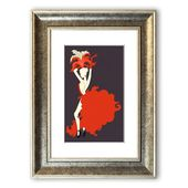Framed Poster Showgirl East Urban Home size: 126 cm H x 93 cm W, frame …
