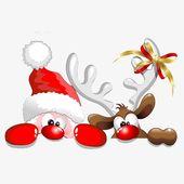 Reno Santa Claus, Santa, Reno, en el vientre Imagen PNG