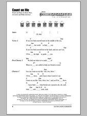 Count On Me By Bruno Mars Guitar Chords Lyrics Digital Sheet Music