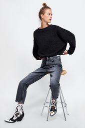 Zara Animal Print Leather Cowboy Ankle