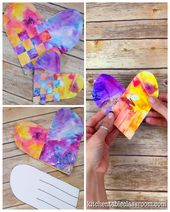 Woven Watercolor Hearts – The Kitchen Table Classroom