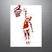 Spud Webb Atlanta Hawks Poster   – Products