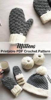 Make a pair of cozy mittens. mittens crochet patte…