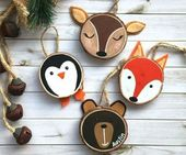 35 ideas for crafting with wooden discs: decorate creatively and close to nature for Christmas