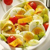 Gemischter Salat mit Fenchel, Eiern und Tomaten – Еда – #Eiern #Fenchel #gemi… – Einfache Salat Rezepte