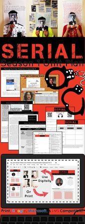Serial Podcast Season One Unit Plan, Actions, and Literary Nonfiction Research