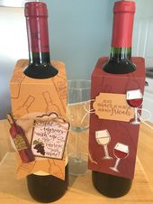 Easy Wine Bottle Tag for your next holiday party! • Laura's Craft Closet