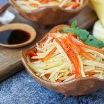 Geschredderte Kartoffel und roter grüner Pfeffer mit schwarzem Essig   – Great recipe ideas