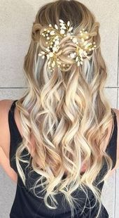 Luxury wedding hairstyles medium length hair half high