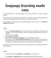 language learning made easy