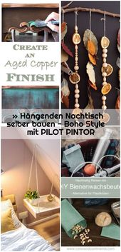 » Hängenden Nachtisch selber bauen – Boho Style mit PILOT PINTOR,  #bauen #Boho #Hängenden #m… – cheap_home_decor