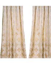 homesilks Pablo Silk Curtains, Beige, 108×52 from Houzz | Martha Stewart