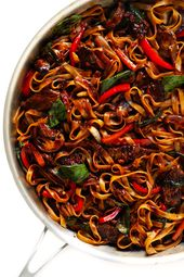 Thai Basil Beef Noodle Stir-Fry
