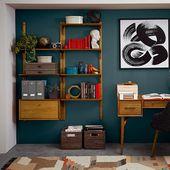 Mid-Century Wall Shelving + Cabinet Set
