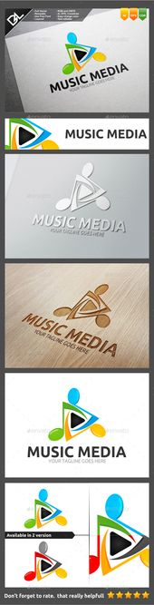 Music Media Logo Template Easy to edit logo template with your own company name with vector for highly resizeable and printing.Fea